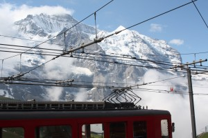 Looking up at the Jungfrau